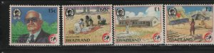 SWAZILAND 543-546 (4) Set, Hinged, 1989 Intl. red Cross and Red Crescent