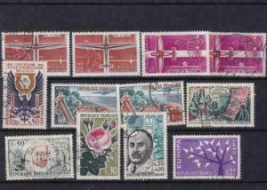 france 1962 mounted mint  and used stamps  ref r14278