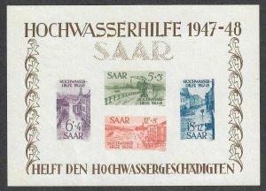 $Saar Sc#B64a M/LH/VF, no gum S/S Cv. $325