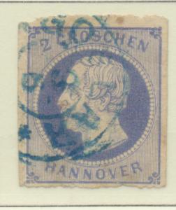 Hanover (German State) Stamp Scott #28, Used - Free U.S. Shipping, Free World...