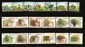 CANADA  STAMPS USED -EDIBLE BERRIES&FRUIT TREES  LOT#183