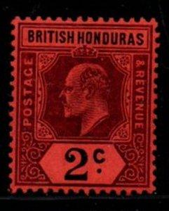 British Honduras Sc 63 1904 2 c violet & black Edward VII stamp mint