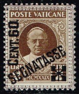 ITALY VATICAN CITY STAMP #J6 1931 Postage Stamps Overprinted SEGNATASSE MH/OG