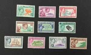 {BJ Stamps) PITCAIRN ISLANDS, 1-8, 5A, 6A, 1949-51 George VI, MH, CV $75.90