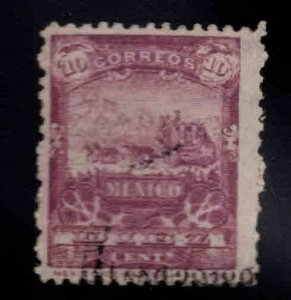 Mexico Scott 284 Used Mail coach stamp CV$175