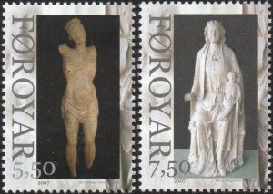 Faroe Islands 2007 #492-3 MNH. Statues