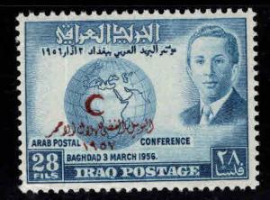 IRAQ Scott  173 MNH** 1957 Red Crescent society overprint
