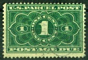 US 1913 #JQ1 - 1c Parcel Post Postage Due Green NG HR F