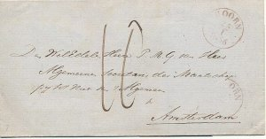 NETHERLANDS 1856 HOORN LETTER VERY FINE CONDITION