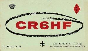 8721 Amateur Radio QSL Card  ALTO CUTUMBELA ANGOLA
