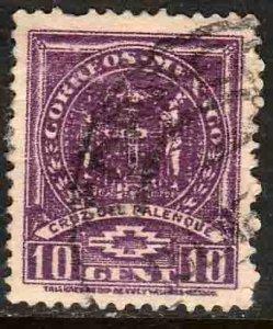 MEXICO 844, 10¢ 1934 Definitive Wmk Gobierno...279 Used. F-VF.  (926)