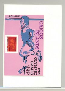 Caicos #41 Olympics 1v Imperf Proof of S/S Mounted in Folder