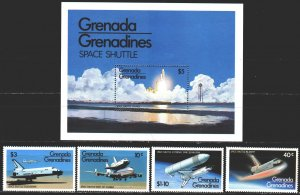 Grenada. 1981. 470-73, bl59. Space, rockets, shuttle. MNH.