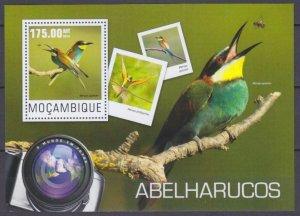 2014 Mozambique 7594/B958 Birds - Bee-eater 10,00 €