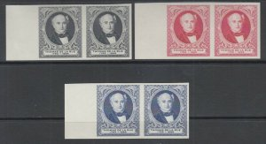 Great Britain MNH. c. 1880 Thomas de la Rue Portrait, Matched Sheet Margin Pairs