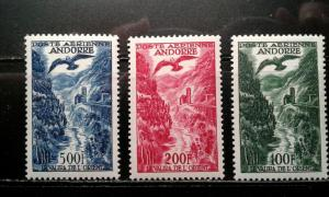 Andorra (French) #C2-4 mint hinged e194.4105