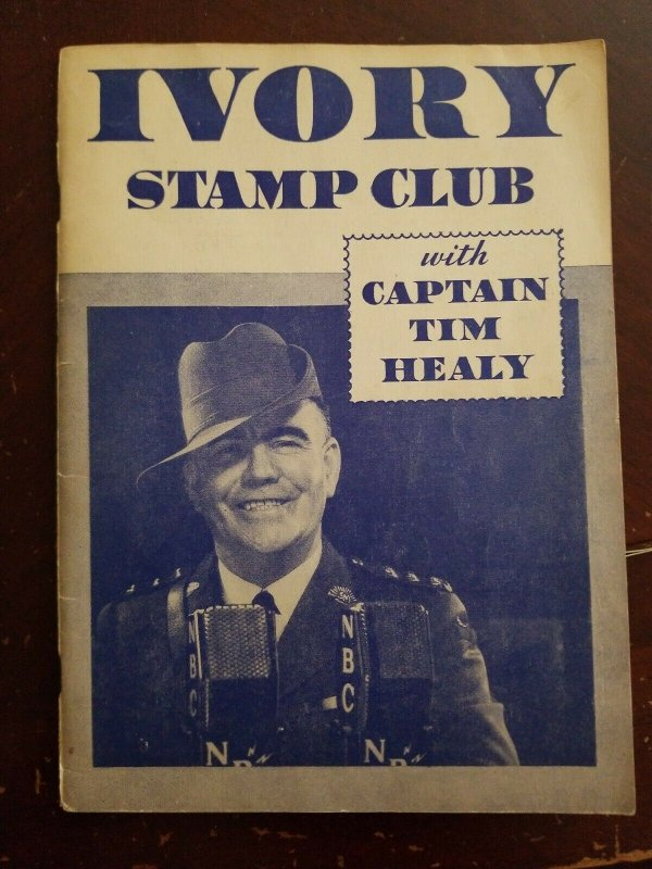 VINTAGE THE IVORY STAMP CLUB CAPTAIN TIM STAMP ALBUM 1934 w stamps