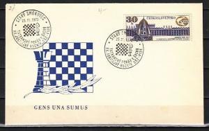 Czechoslovakia, 1972 issue. Chess, 25/NOV/72 Cancel on a Cover.