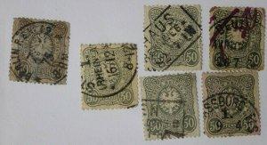 Germany sc#35a Mi38b cv$325.00 sc#42, 42b, 42c cv$57.50 50pf color variety lot