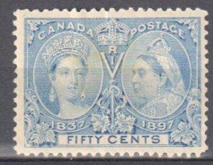 Canada #60ii Mint F-VF OG H C$800.00 -- Pale Blue Shade Jubilee --