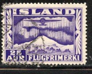 Iceland # C17, Used. CV $ 19.00