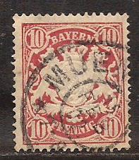 Bavaria  #  63  used .      B