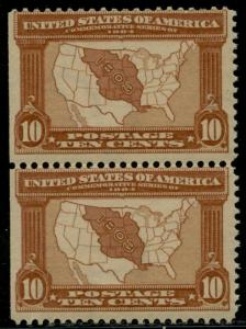 #327 VF OG NH WITH NATURAL S.E. AT LEFT; PF CERT CV $660.00 BQ2760