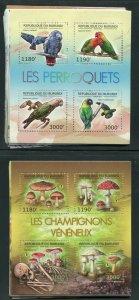 Burundi 1191-1240 NH Nature: Birds Turtles Butterflies etc 50 Sheets Scott $520!