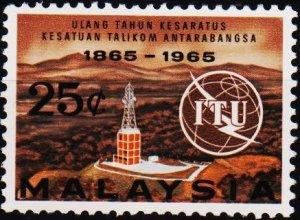 Malaysia. 1965 25c S.G.13 Fine Used