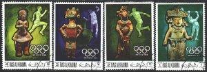 Ras al-khaimah. 1968. 259-62. Mexico City Summer Olympics. USED.