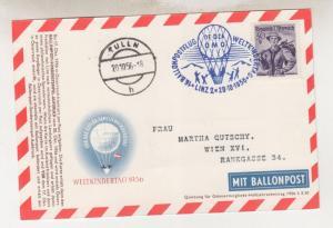 AUSTRIA, 1956 Balloon Post Card, Linz to Tulln.