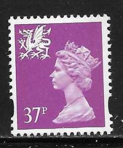 Great Britain Wales WMMH63 37p Machin MNH