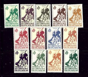 French West Africa 23-35 MH 1945 partial set