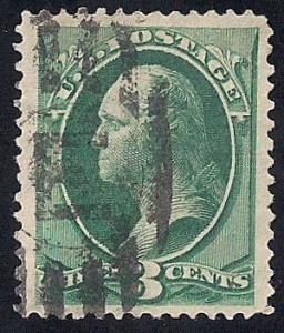 158 3 cents Fancy Cancel  Stamp used VF