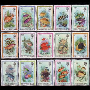 MONTSERRAT 1981 - Scott# 446-60 Fish Set of 15 NH