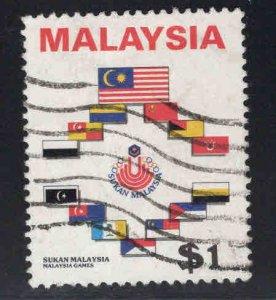 Malaysia Scott 328 Used Flag stamp set