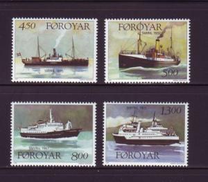 Faroe Islands Sc 352-5 1999 ships stamp set mint NH
