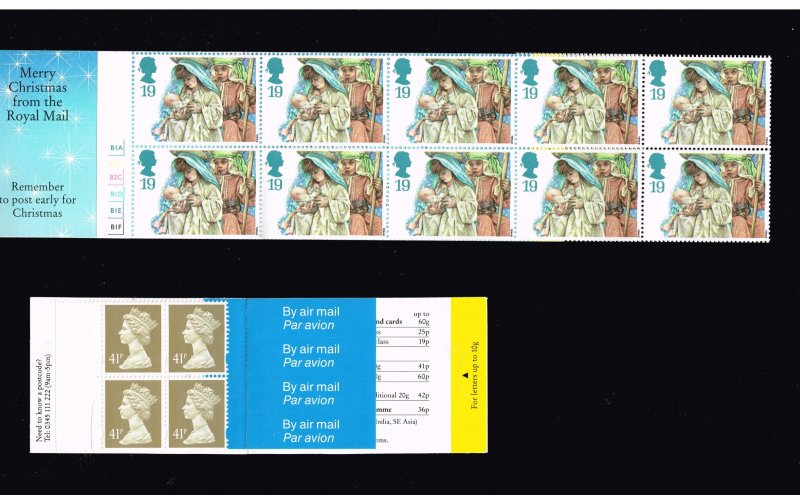 UK STAMP BOOKLET STAMPS LOT