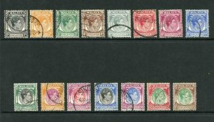 Singapore SG1/15 1948 Set of 15 Perf 14 Fine used Cat 35 pounds