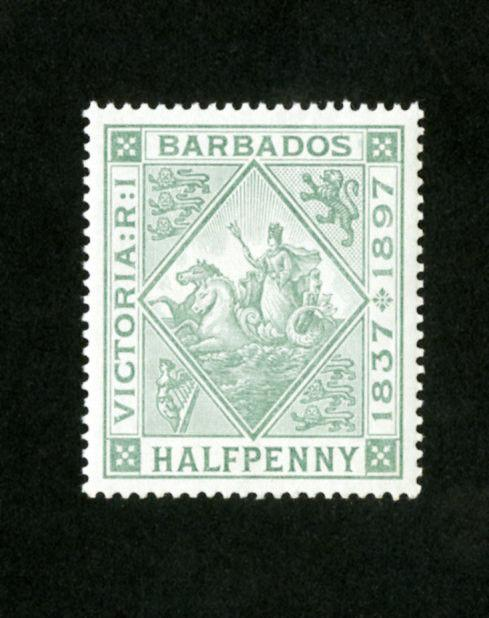 Barbados Stamps # 81A Jumbo OG NH