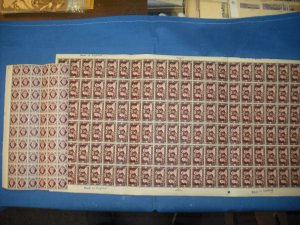 Great Britain/Tangers, MNH sheet and Partial Sheet