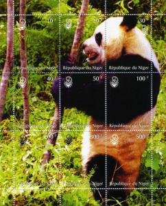 Niger 1999 GIANT PANDA s/s Perforated Mint (NH)