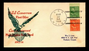 1939 USS Childs Commissioned Cover - L9876