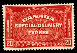 CANADA SG S7, 20c red-brown, LH MINT. Cat £45.