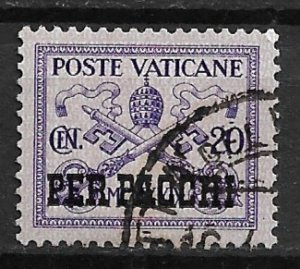 1931 Vatican Q3 Parcel Post 20c used