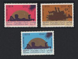 Libya Children's Day Sun gold 3v SG#303-305