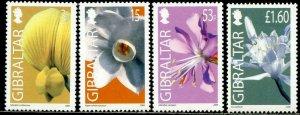 GIBRALTAR Sc#1033-1036 2006 Flowers Complete Set OG Mint NH