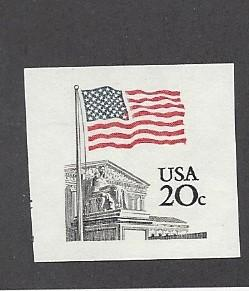 United States, 1895d, 20c Flag Imperf Single, MNH
