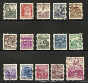 Austria 1962-70 Scott# 688-702 Complete used
