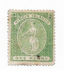 British Virgin Islands #3 1p Virgin & Lamps (U) CV$75.00